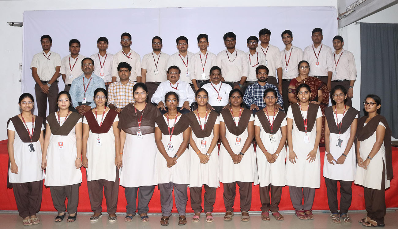 Principal with TCS selected students
